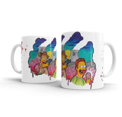 Caneca Personalizada Cerâmica THE WALKING SIMPSONS