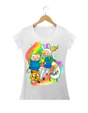 Camiseta Hora de Aventura / Fin e Fiona