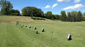 First class practice facility, with full length range, and mutiple practice greens.