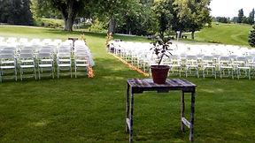 Unbelievable outdoor wedding at Minnewaska Golf Club.