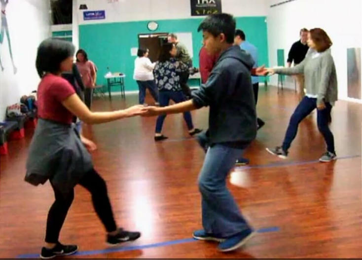 """Teens Nathan and Abigail working in with """"the adults"""" in our general classes."""