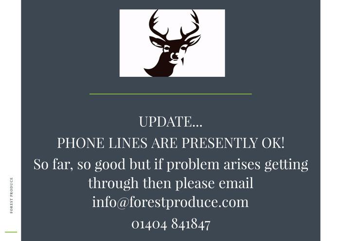 Ordering update...