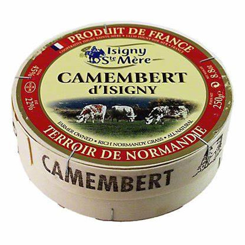 Isigny Camembert 250g. Wooden Box.