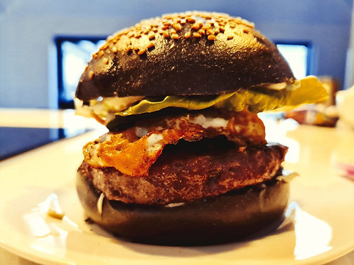 NEW-Charcoal Seeded Burger Buns  6 x 90g