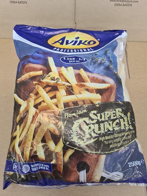 AVIKO Supercrunch 9.5mm Skin On Fries 2.5kg