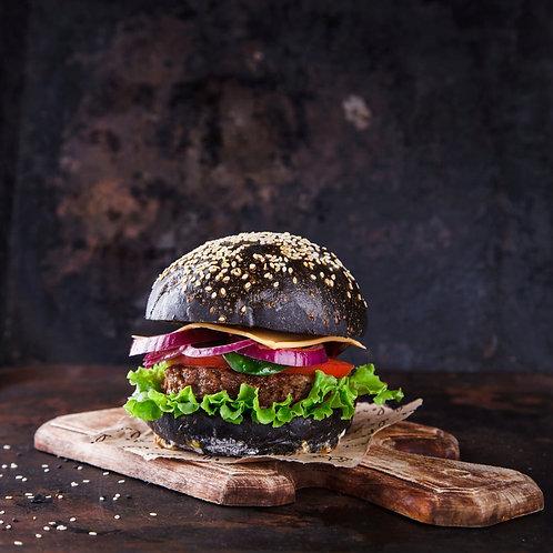 Charcoal Burger Buns x 6