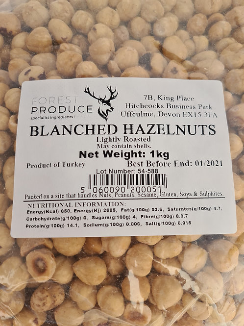 Hazelnuts-Peeled and Blanched 1kg