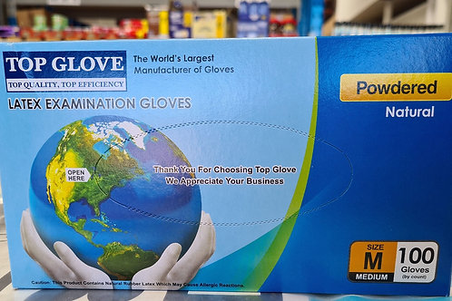 Latex Gloves x 100-Medium