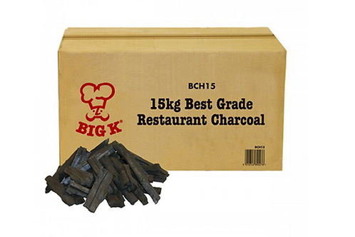 Big K-Best Grade Restaurant Charcoal 15kg BCH15