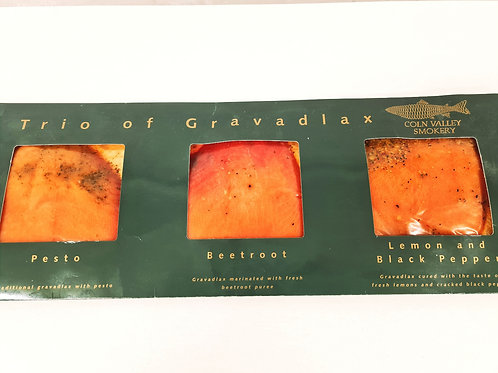 Gravadlax Trio of Flavours-Dill, Beetroot & Classic 390g-Frozen