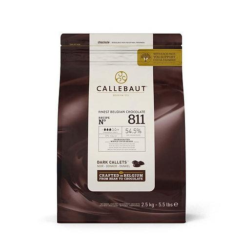 Callebaut 811 Dark Pistoles 54%, 2.5kg