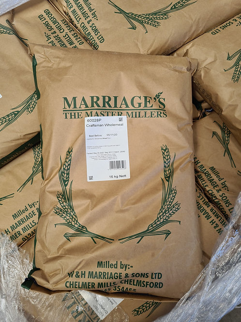Marriages Strong Wholemeal Bread Flour 16kg