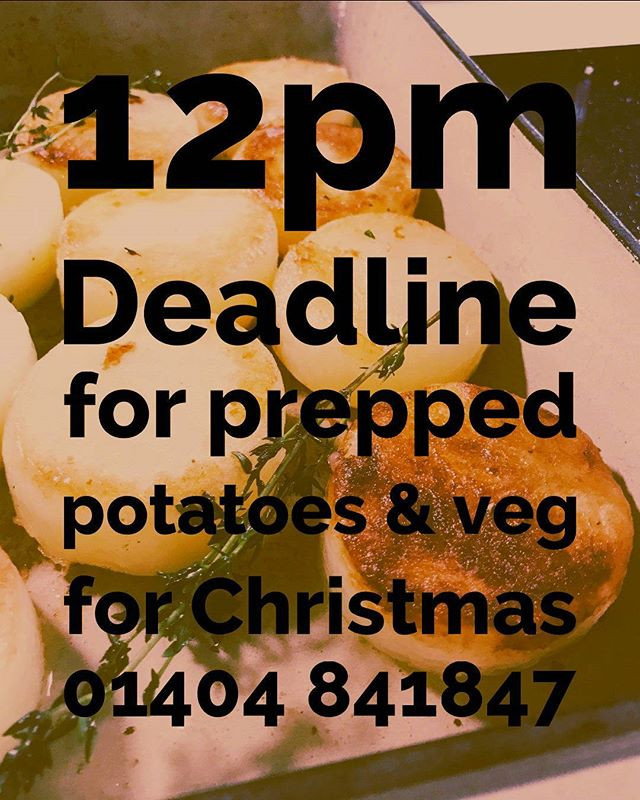Get your PREPPED veg orders in chefs