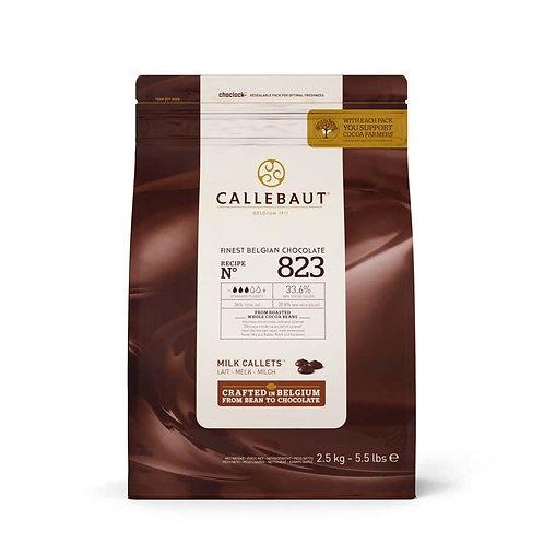 Callebaut 823 Milk Pistoles 33.6%, 2.5kg