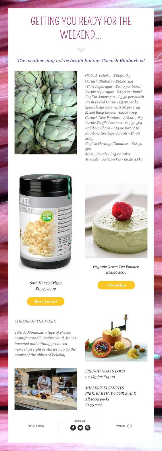 New products in chefs...