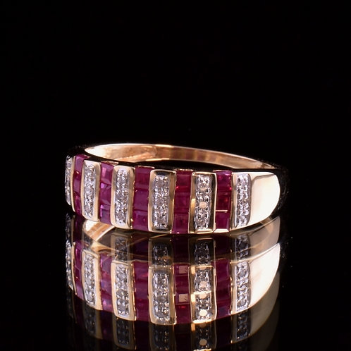 0.80 Carat Ruby and Diamond Ring