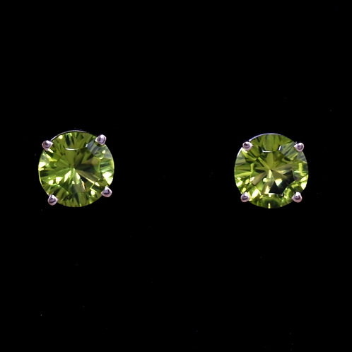 Optix Cut Peridot Stud Earrings