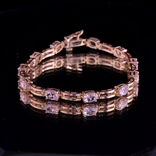 Morganite and Rose Gold Bracelet