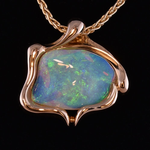 Hand Carved Opal Pendant