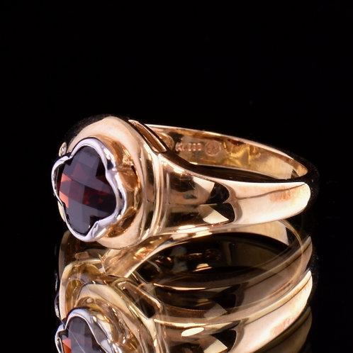 2 Carat Garnet and Diamond Ring