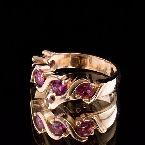 1.19 Carat Pink Tourmaline Ring