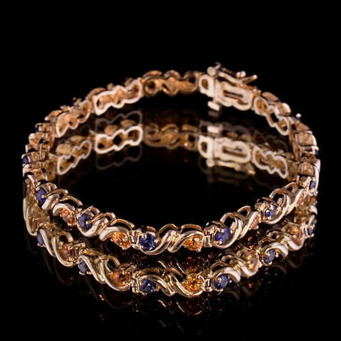 Sapphire and Citrine Bracelet