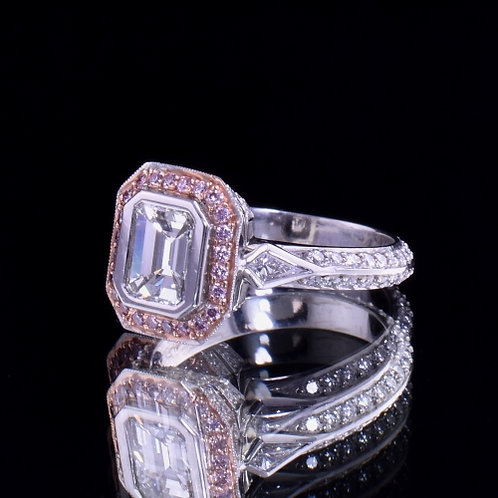 2.42 Carat Total Weight Diamond Engagement Ring