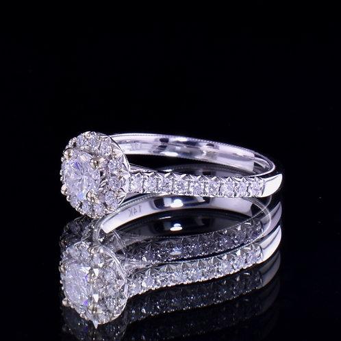 0.79 Carat Diamond Engagement Ring
