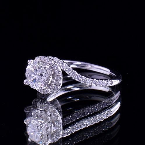 1.58 Carat Total Weight Diamond Engagement Ring