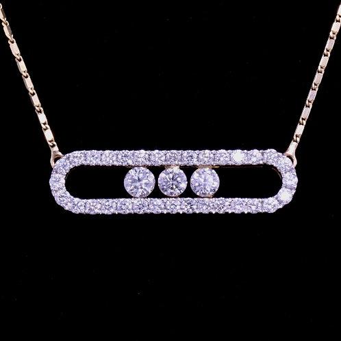 1.19 Carat Diamond Slide Pendant