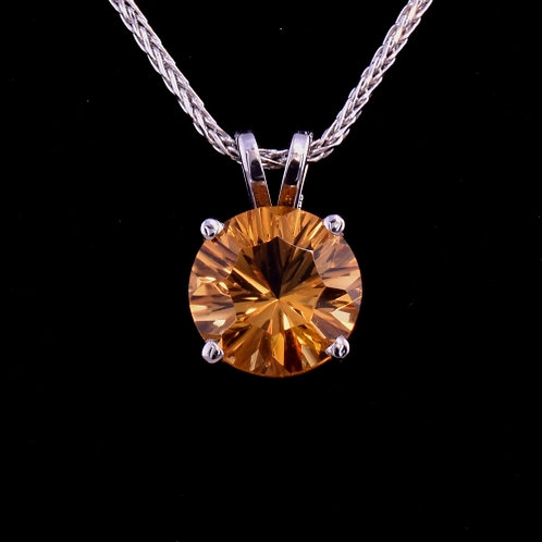 3.36 Carat Optix Cut Citrine Pendant