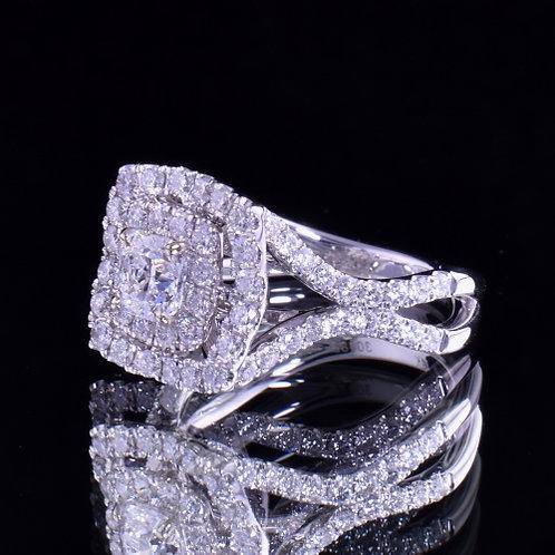 2.20 Carat Total Weight Diamond Engagement Ring