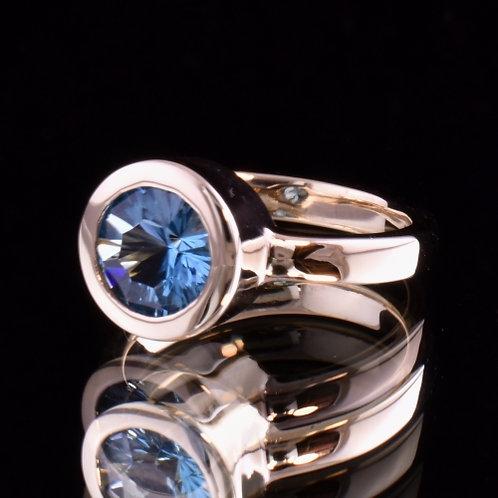 Optix Cut Blue Topaz Ring