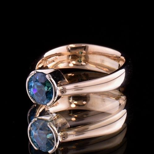 2.20 Carat Blue Zircon Ring