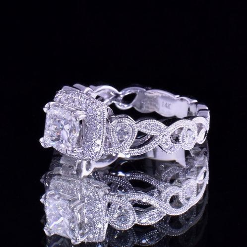 1.49 Carat Total Weight Diamond Engagement Ring