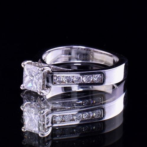 1.21 Carat Total Weight Diamond Engagement Ring