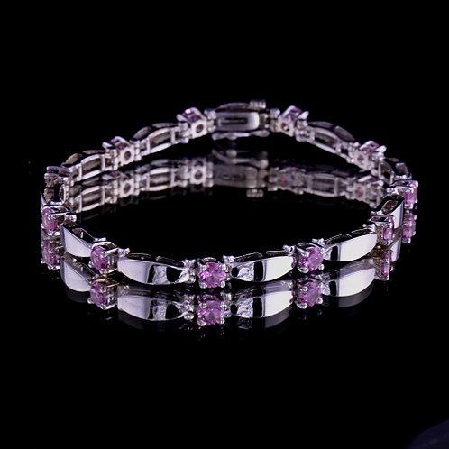Fine Pink Sapphire Bracelet