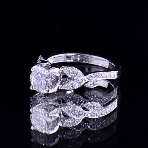1.10 Carat Total Weight Diamond Engagement Ring