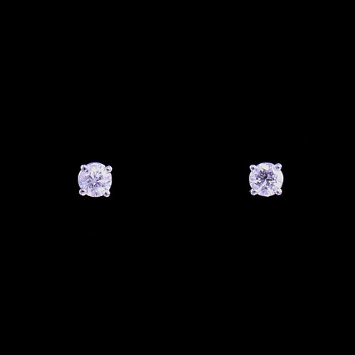 0.30 Carat Total Weight Diamond Stud Earrings