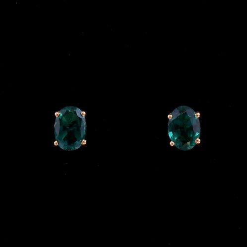 1.29 Carat Lab Grown Emerald Earrings