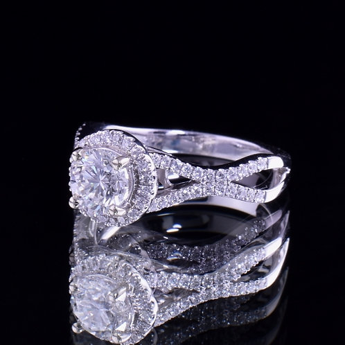 1.49 Carat Total Weight Diamond Engagement Ring