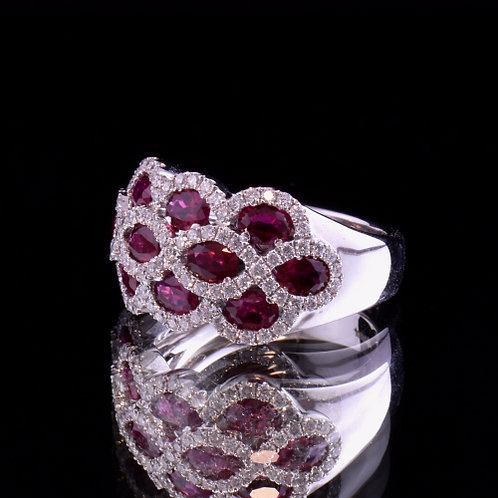 Spark Ruby and Diamond Ring