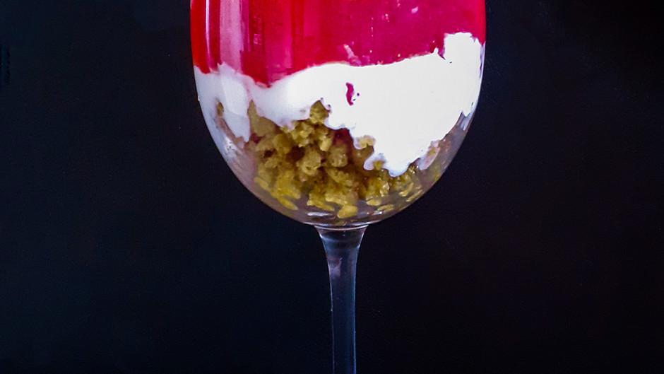 Erdbeer-Vanillequark-Dessert (2-3 Portionen)