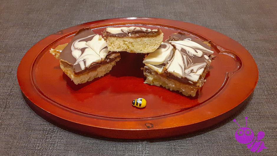 Shortbread-Karamell-Schnitten              (16 Stück)