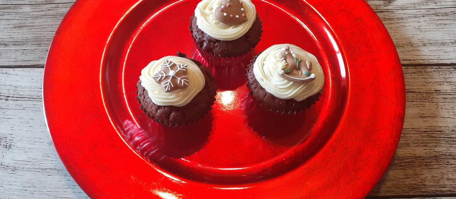 Weihnachts-Schoko-Kirsch-Muffins       (12 Stück)