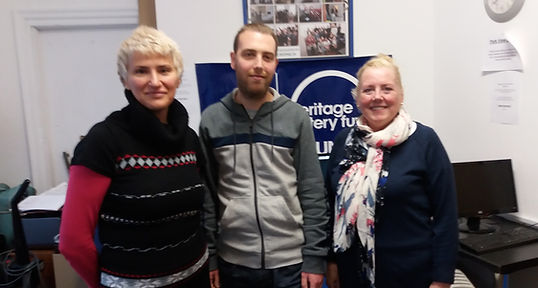 Rusana, Mart and Vicki Peacock, who is aslo the chair of our community group