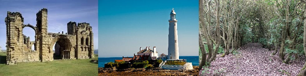 A view of the iconic Whitley Bay Lighthouse