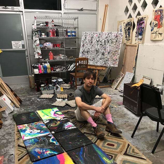 Chillin' in the studio