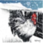 Cockerel with Cadair Idris blank Christmas card .jpg