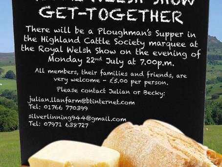 Royal Welsh Show Get-together & Supper